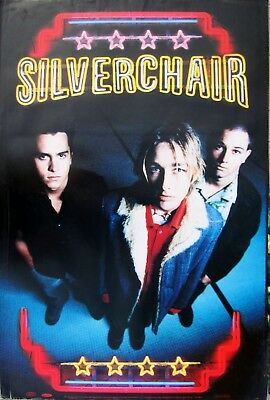 "SILVERCHAIR ""NEON BALLROOM"" U.S. PROMO POSTER - Group Beneath Neon Band Sign"