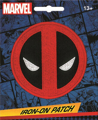"""Marvel Comics Deadpool Icon Eyes Logo Embroidered 3.5"""" Patch Style 2 NEW UNUSED"""