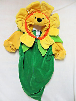 Disney Halloween Costume Winnie the Pooh Flower Baby Infant 0 - 3 M Bunting