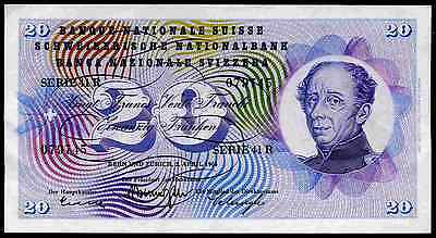 Switzerland. 20 Francs 41R 079745, 2-4-1964. Very Fine-Extremely Fine.