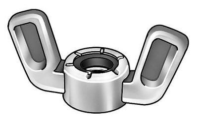 4CAR8 Wing Nut, Nylon Insert, 1/4-28, PK20