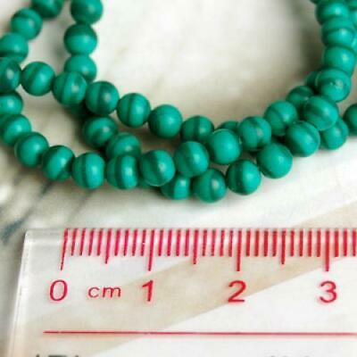 4mm Green Africa Round Cabochon Gemstone Beads Strand Jewelry Findings 50 Carats