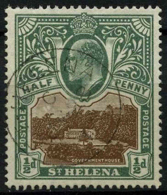 St. Helena 1903 SG#55, 1/2d Brown And Grey-Green KEVII Used #D36113