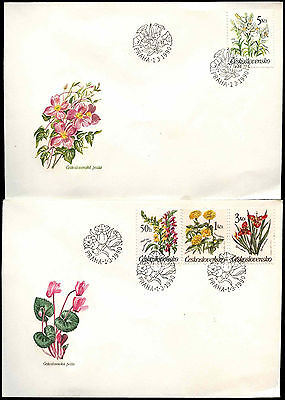 Czechoslovakia 1990 Flowers FDC First Day Cover Set #C38227