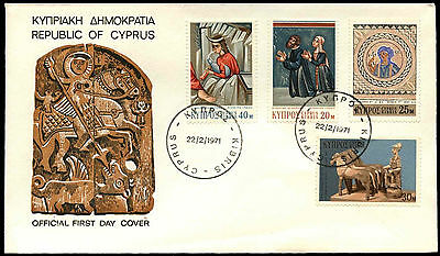 Cyprus 1971 Definitives FDC First Day Cover #C38250