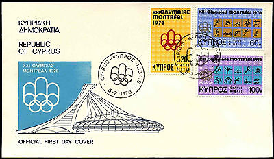 Cyprus 1976 Olympic Games FDC First Day Cover #C38248
