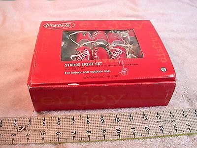 New COKE BRAND Coca-Cola String Light Set of 10 12' string 6 extra Coke covers