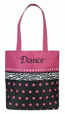 New Dance Bag Sassi Designs Fun and Flirty Dots n Zebra DZB-01