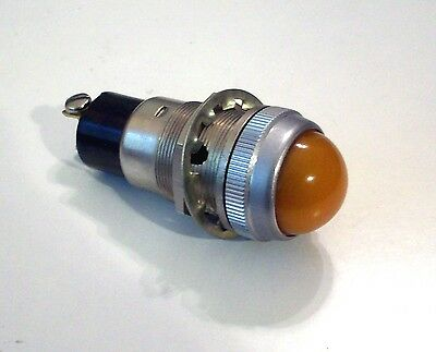 "Vintage AMBER Beehive dash gauge panel light Hot Rod 1"" rare stock old Dialco"