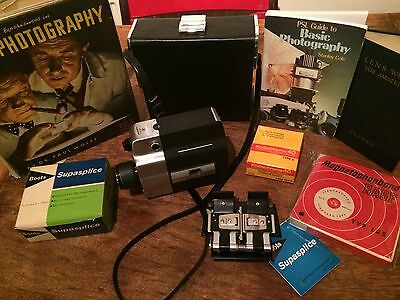 SUPER 8 CAMERA UNUSED FILM Vintage PHOTOGRAPHY Splicer SUPERSPLICE Kodachrome A