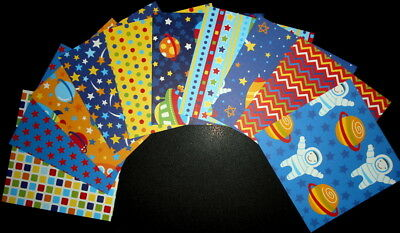 "*SPACE*  Scrapbooking/Cardmaking Papers x 10 - 15cm x15cm - (6""x 6"") BOY THEME"