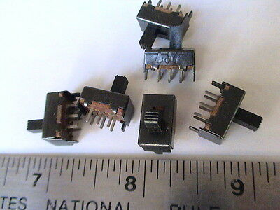 10pcs DPDT PCB mount 6-pin 2 Positions Slide switches #3.2T22P6G6   (802-018)
