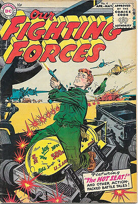 Our Fighting Forces Comic Book #4, DC Comics 1955 VERY GOOD