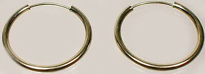High Quality 14kt Gold 16mm Endless Hoops Ancient Minoan Crete Mycenea 2400BC