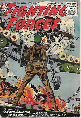 Our Fighting Forces Comic Book #9, DC Comics 1956 VERY GOOD/VERY GOOD+