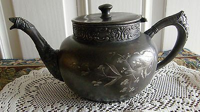Victorian Lexington Silver Co Tea-Pot As Is Accent Piece Ornate Quadruple Plate