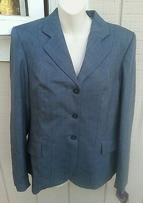NWT DEVON AIRE 2200 Ladies 14 Equi Fit Stretch Horse Show Jacket Coat Teal Gray