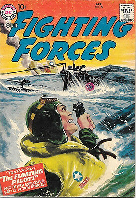 Our Fighting Forces Comic Book #20, DC Comics 1957 VERY GOOD+