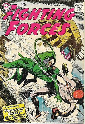Our Fighting Forces Comic Book #24, DC Comics 1957 VERY GOOD/VERY GOOD+
