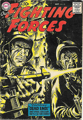 Our Fighting Forces Comic Book #25, DC Comics 1957 VERY GOOD/VERY GOOD+