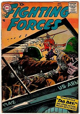 Our Fighting Forces Comic Book #26, DC Comics 1957 VERY GOOD+