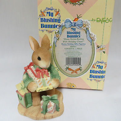 My Blushing Bunnies Bless Some Bunny With Holiday Cheer Christmas Figurine