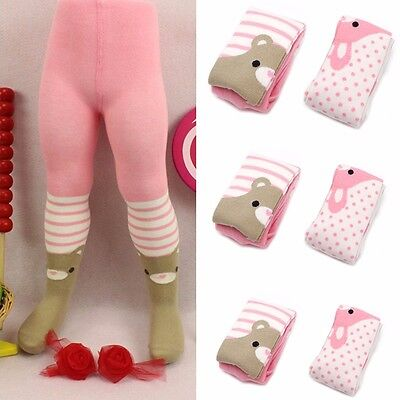 Baby Toddler Kid Girl Cotton Bear Tights Socks Stockings Pants Hosiery Pantyhose