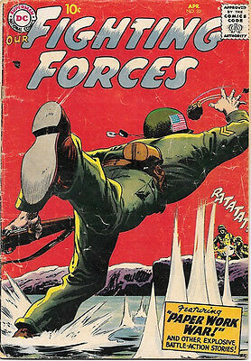 Our Fighting Forces Comic Book #32, DC Comics 1958 GOOD+/VERY GOOD-