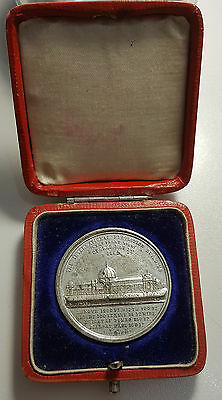 UK Crystal Palace  International Exhibition 1862 Medal In Case of Issue RARE