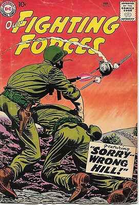 Our Fighting Forces Comic Book #42, DC Comics 1959 VERY GOOD+