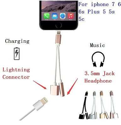 Lot 2-in-1 Charger Earphone Audio plug adapter for iPhone 7 & 7plus