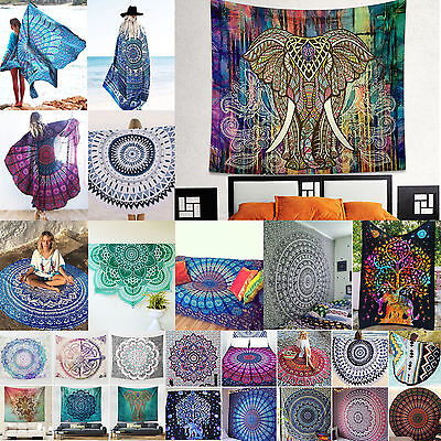 Hippie Indian Tapestry Wall Hanging Throw Bedspread Bohemian Ethnic Rug Blanket