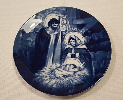 "1991 Avon The Holy Family Porcelain Collector's Plate 8"" NOS New In Box"
