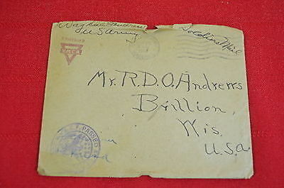 """World War I Letter YMCA Stationery 1918 Soldier's Letter to """"Dad""""  (#2)  900"""