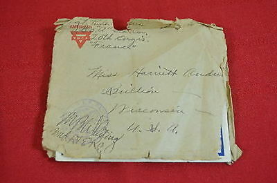 World War I Letter YMCA Stationery 1918 Easter Greetings Brillion WI (#1)  900