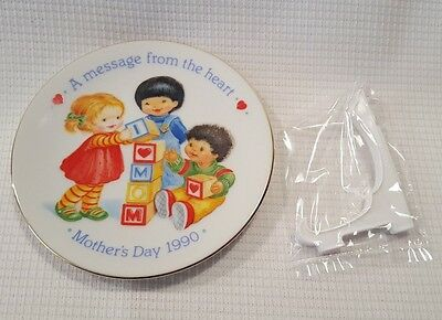 1990 Avon Mother's Day Plate A Message From The Heart NOS New In Box