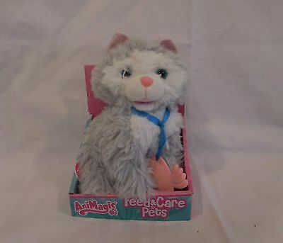 AniMagic Feed & Care Pets Kitten Cat - Plush Soft Cuddly Toy with Sound