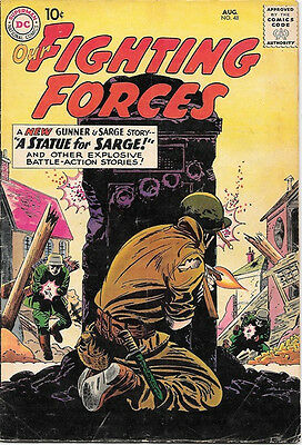 Our Fighting Forces Comic Book #48 Gunner and Sarge, DC Comics 1959 VERY GOOD+
