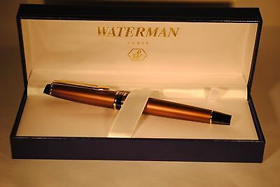 Waterman Expert Ii Copper & Gold Trim  Rollerball  Pen New In Box