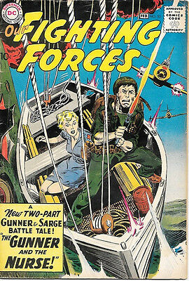 Our Fighting Forces Comic Book #53 Gunner and Sarge, DC Comics 1960 VERY GOOD+