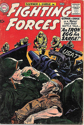 Our Fighting Forces Comic Book #54 Gunner and Sarge, DC Comics 1960 VERY GOOD