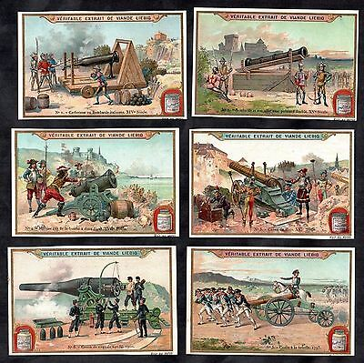 Canons Through History Liebig Cards 1903 War Military Soldiers Artillery Siege