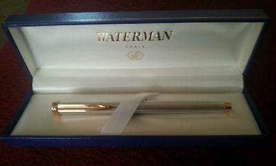 Waterman Gentleman Sterling Silver Rollerball Pen Pinstrip Pattern New In Box