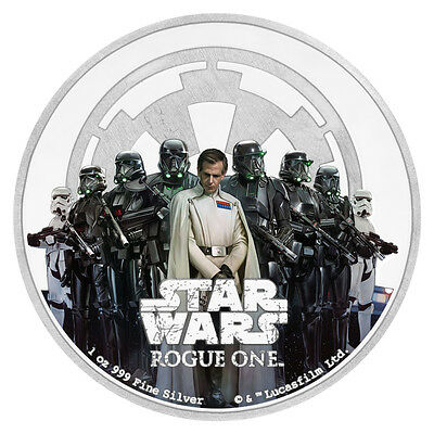 2017 Niue $2 1 oz. Proof Silver Star Wars: Rogue One Empire In OGP SKU43923