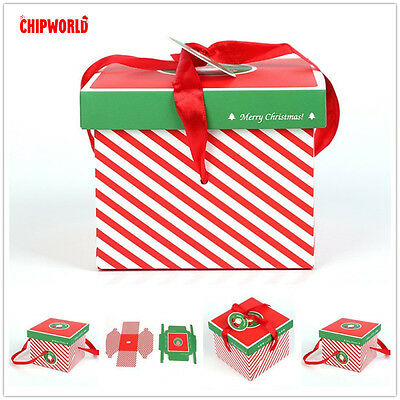 Lovely Carton Christmas Decorations Box Hand Wholesale Portable Candy Packing