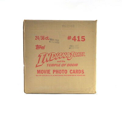 1984 Topps Indiana Jones and the Temple of Doom EMPTY Wax Box Case #415 24/36 ct