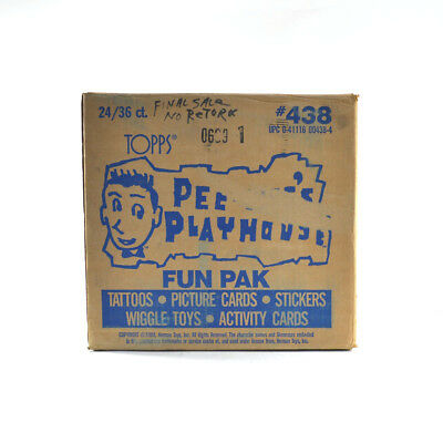 1988 Topps Pee-Wee Playhouse EMPTY Wax Box Case #438 24/36 ct.