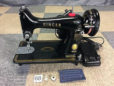 Vintage 1956 Singer 99- 99K Heavy Duty 3/4 Sewing Machine Serviced Works Perfect