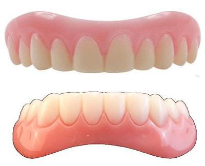 Instant Smile Teeth MEDIUM top & BOTTOM SET ONE PKG EX BEADS perfect photo fast