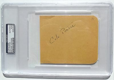 Cole Porter Prominent American Composer & Songwriter Autograph 'Rare' Died 1964